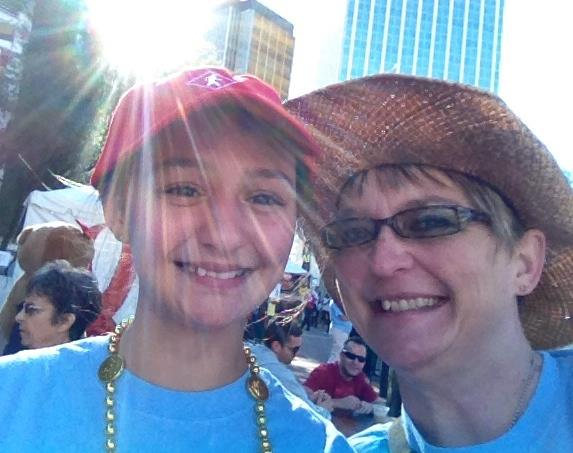 Laura & daughter Cecilia at AIDSWALK 2014