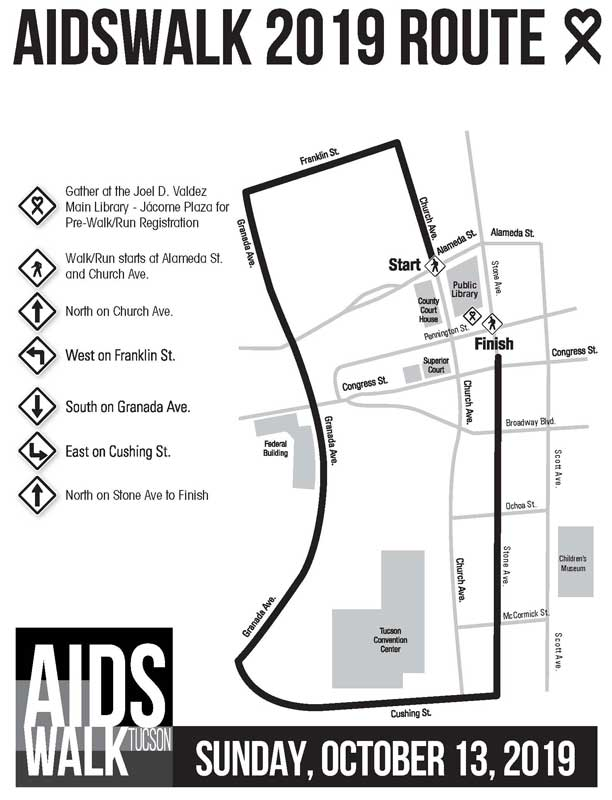 The AIDSWALK 2019 Route